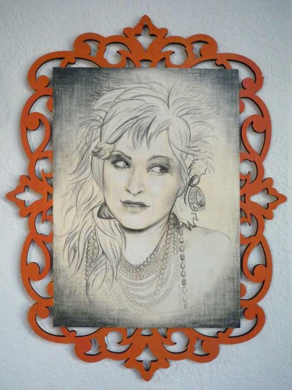 """Cyndi Lauper • 15.75"""" x 21"""""""