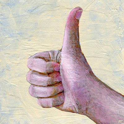 "Thumbs Up • 6"" x 6"""