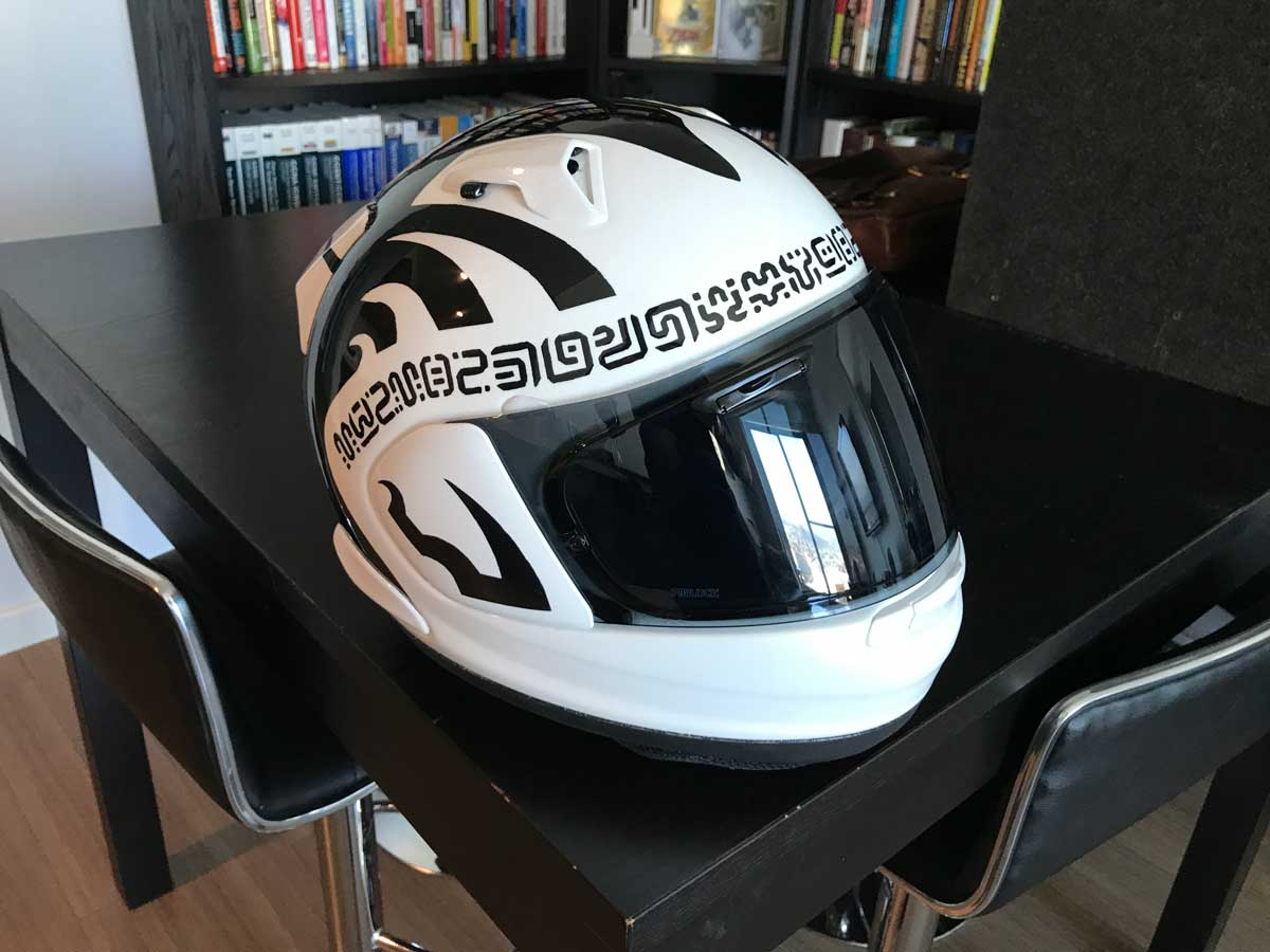 Finished helmet (with gloss sealant)