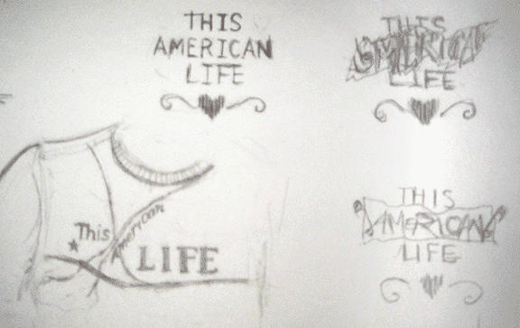 Sketches for TAL t-shirt