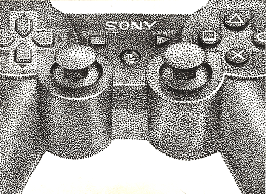 "Pointillism PS3 Controller • 3.5"" x 2.5"""