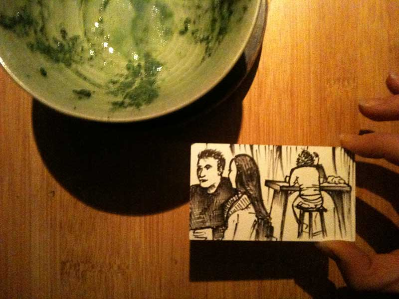 Sketch & bowl o' matcha