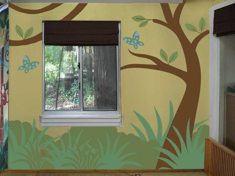 Backyard wall design