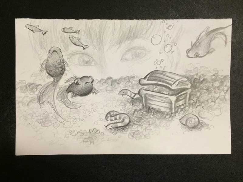 Aquarium Gaze sketch