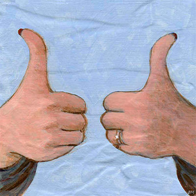 "Two Thumbs Up • 6"" x 6"""
