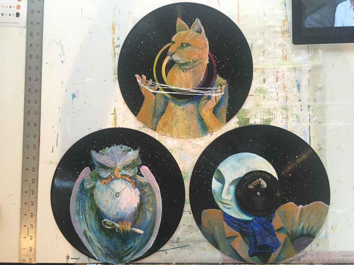 Cat's In the Cradle series • 3 paintings