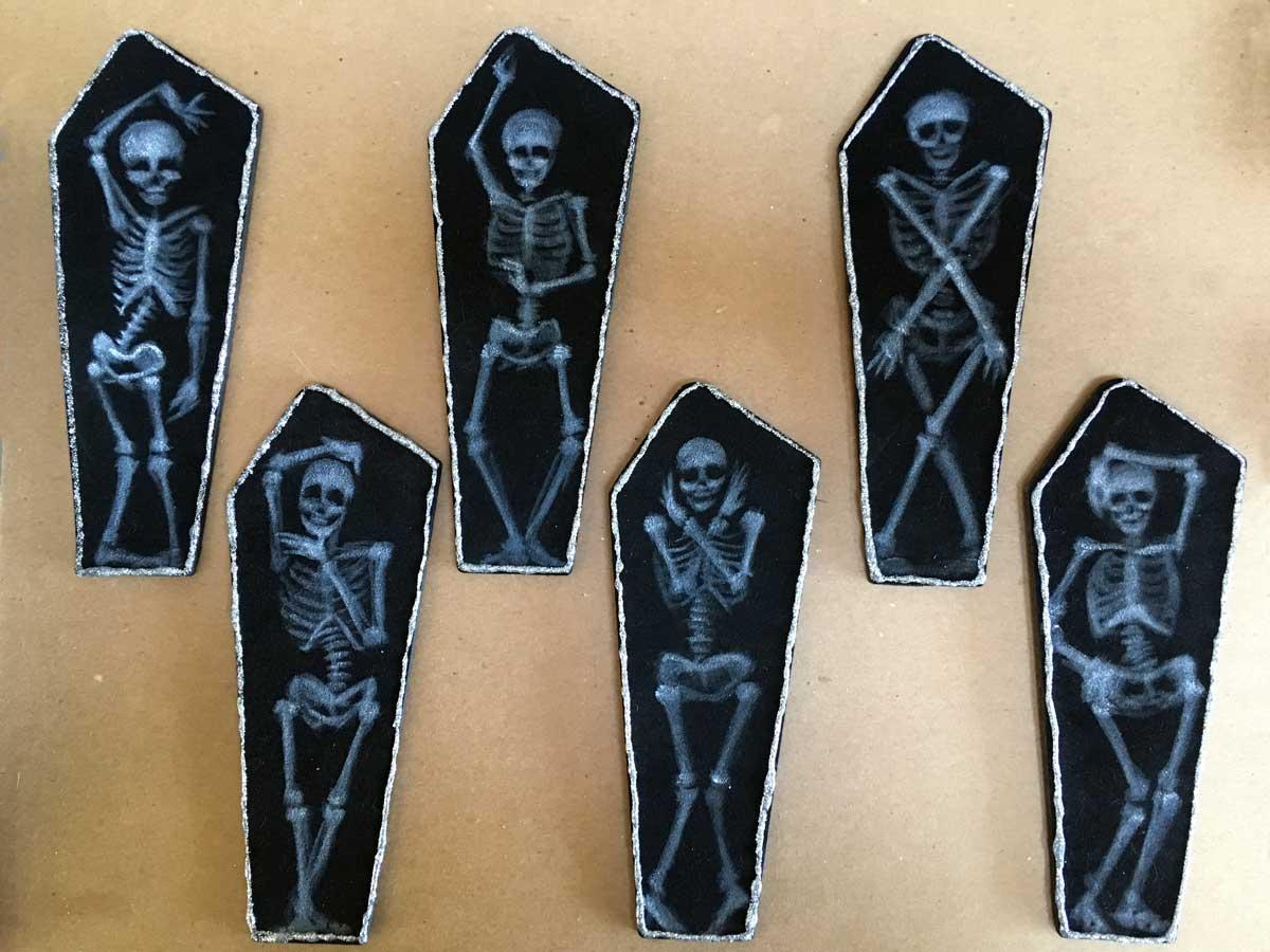 """Coffin Vogue • 2.25"""" x 7.25"""" each"""