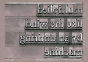 "Gutenberg's Untiring Machine • 7"" x 5"" •charcoal on paper"
