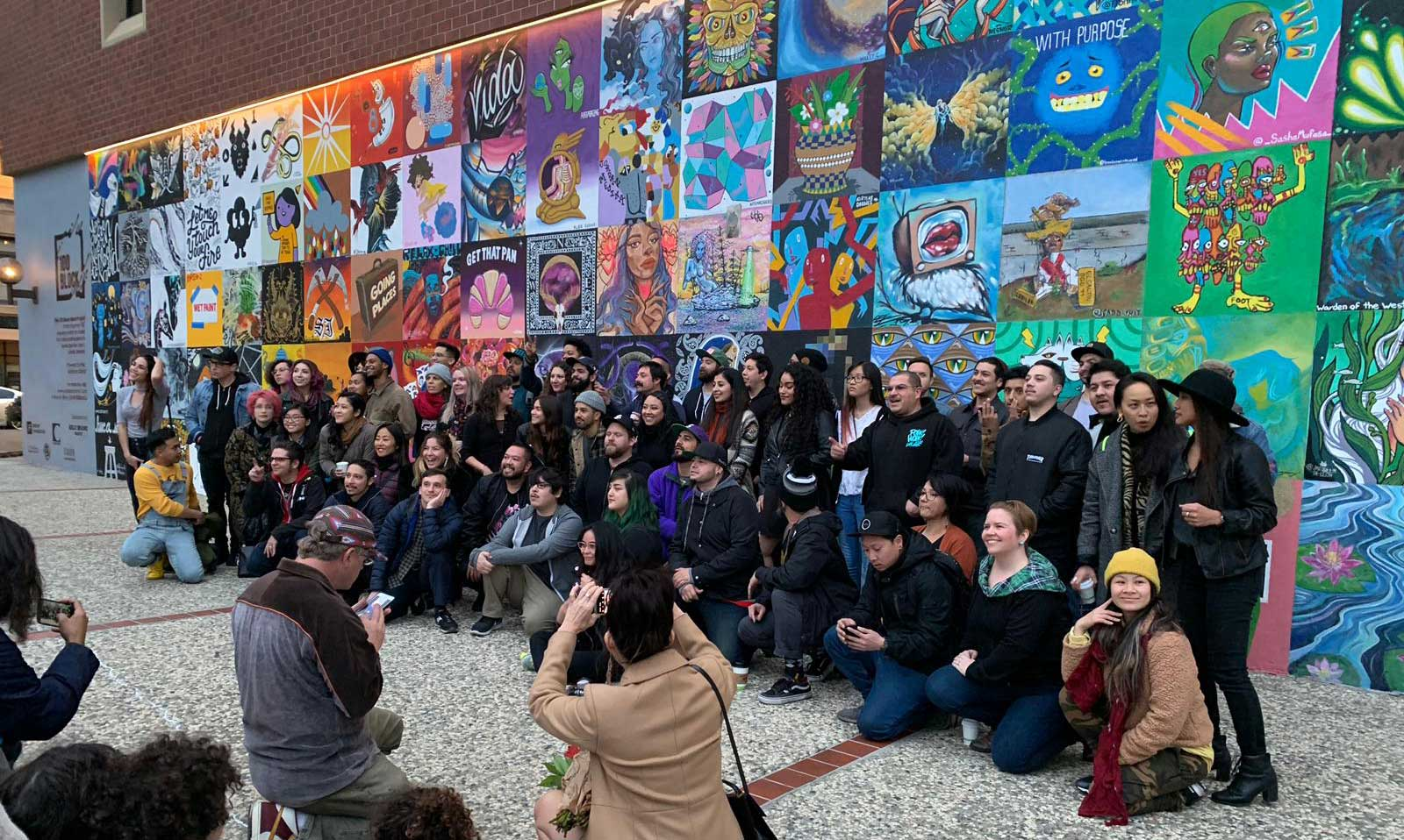 100 Block mural opening on March 1, 2019 • 300 South First St, San José