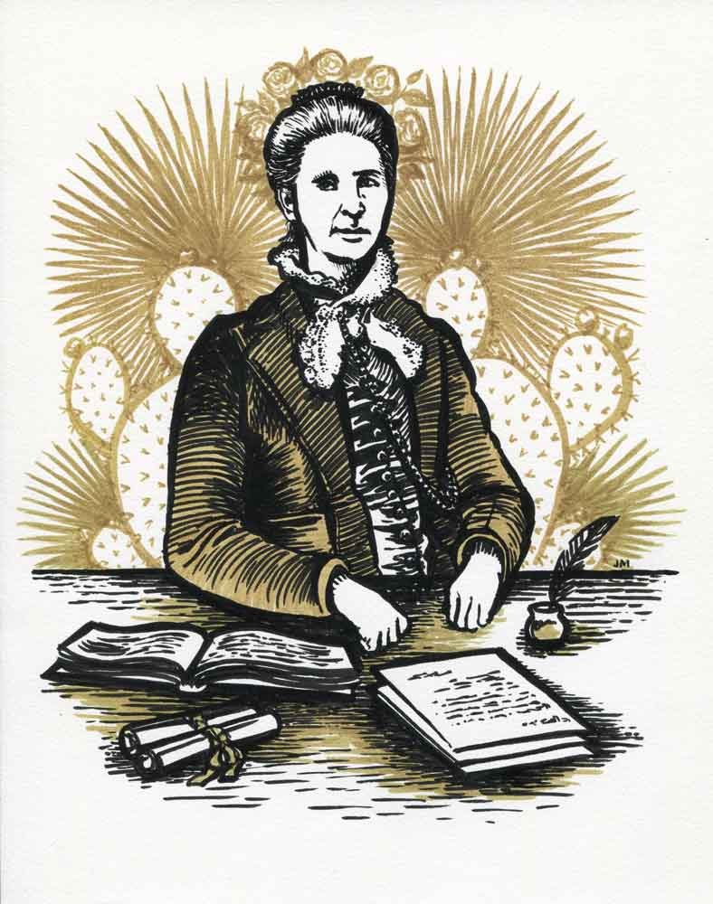 Illustration of Belva Lockwood