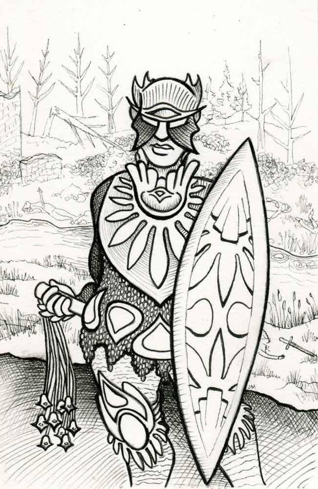 Bronze Warrior II detail