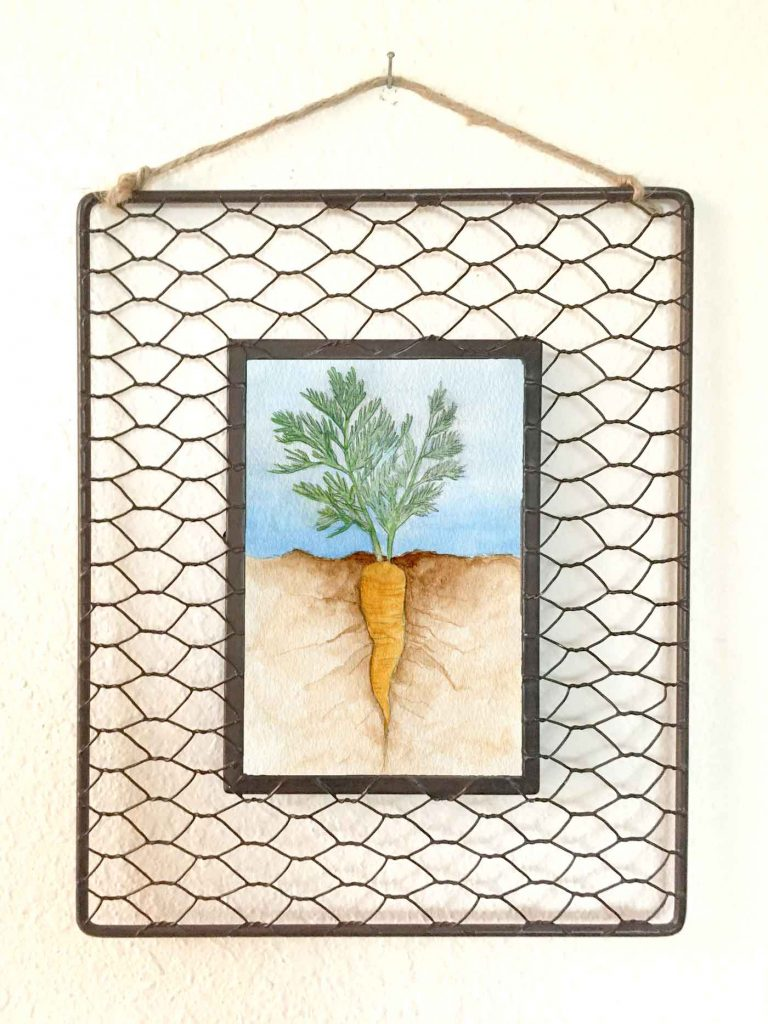 "Roots: Carrot • 8""x10"" (in frame)"