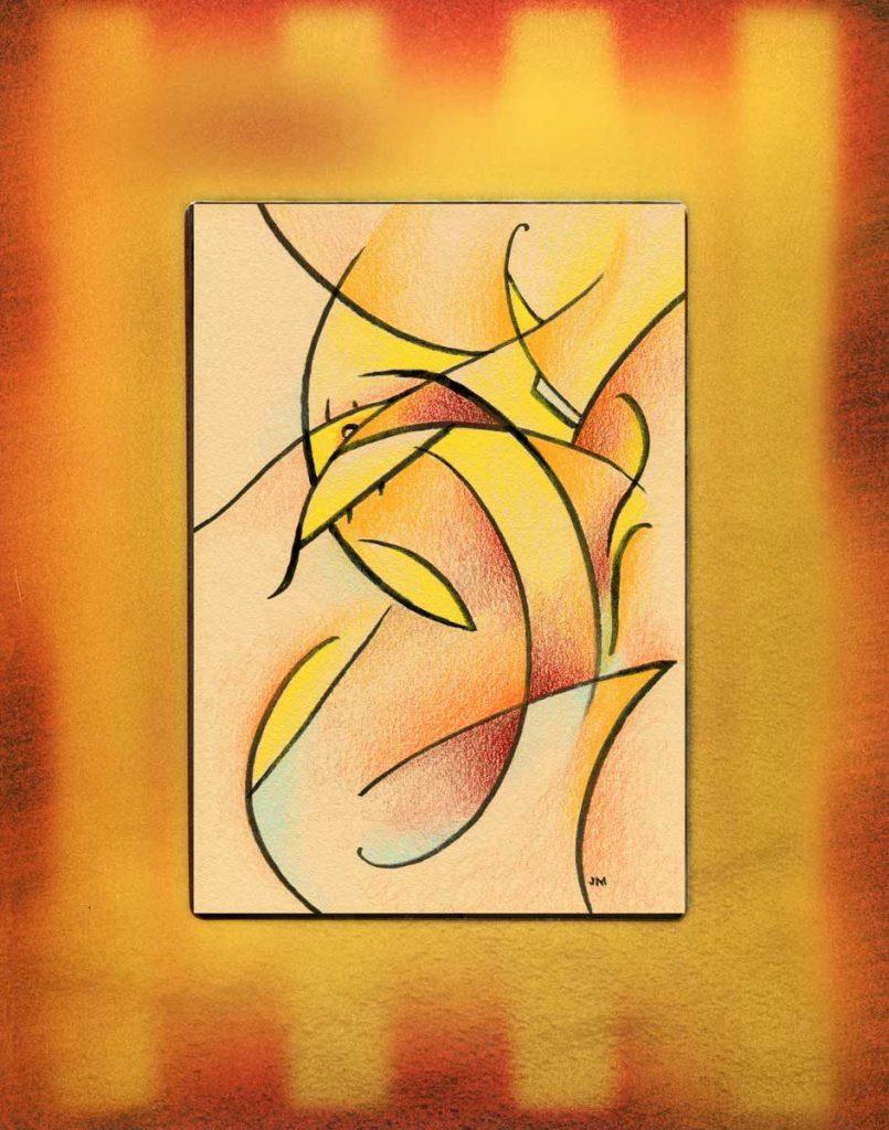 """Loki II • 9"""" x 11"""" framed"""
