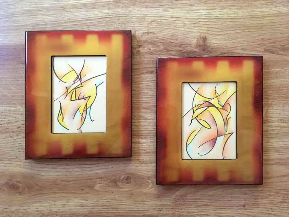 Loki I & II (framed)