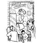 Illustration for departmental secretary picket