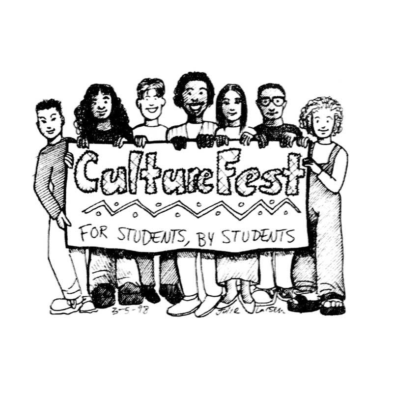 Illustration for Culture Fest letters