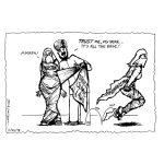 Cartoon about Taliban