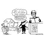 """Cartoon about Betty Sanders Assembly campaign"""
