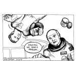 Cartoon about John Glenn returning to space