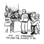 Cartoon about SLC Olympic corruption