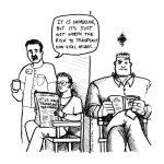 Cartoon about hand transplant ethics