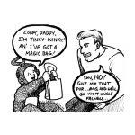 Cartoon about Teletubbie's TInky Winky