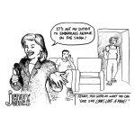 Cartoon about talk show embarrassment