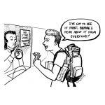 Cartoon about Star Wars advance tickets