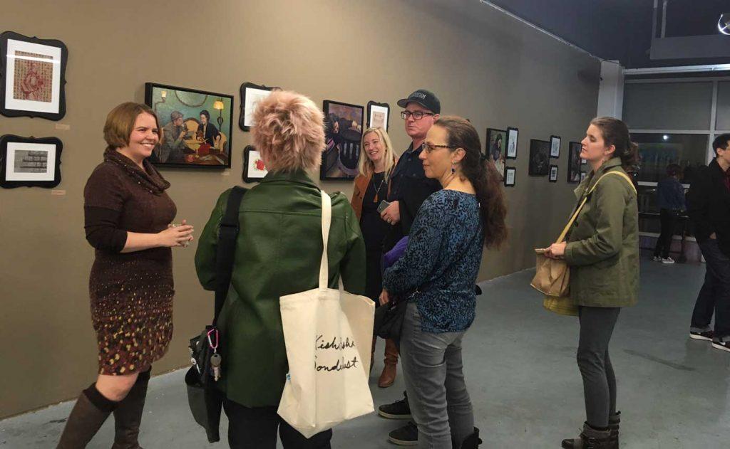 Prior Art reception (photo by Jillian Cocklin)